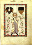 Fig. 9. The poet Tannhäuser depicted in the habit of a Teutonic knight. Manesse Codex (c. 1305)