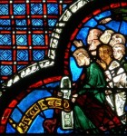 Fig. 1. The Shoemakers offer a window, Chartres Cathedral, window 44. © Painton Cowen