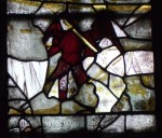 Fig. 4. The Archangel Michael holding his flaming sword and scales, Thornhill Church, West Yorkshire, © J. Allen.