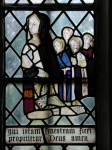 Fig. 7 . Donor portraits: Eleanor Ashfield with four daughters, Old Church of St Nicholas, Heythrop (Oxon). © C B Newham