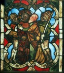 Fig. 2. 'The Betrayal', detail from the Passion of Christ window. © CVMA Deutschland Potsdam/Berlin Brandenburgische Akademie der Wissenschaften, Andrea Gössel.