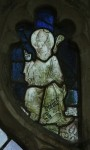 Fig. 3. St Botulph, nVI A2, with a mitre. White glass with yellow stain. © Mike Dixon.