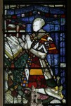 Fig. 4. The kneeling figure of the Earl in the East window. © YF Pictures