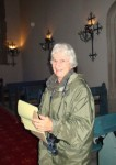 Fig. 1. Madeline Caviness in Hampton Court chapel, Herefordshire. © Catherine Beale