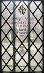 Fig. 4. Memorial window to George Easton, Crypt nVIII 1b, Canterbury Cathedral. © The Dean and Chapter of Canterbury Cathedral (reproduced withpermission).