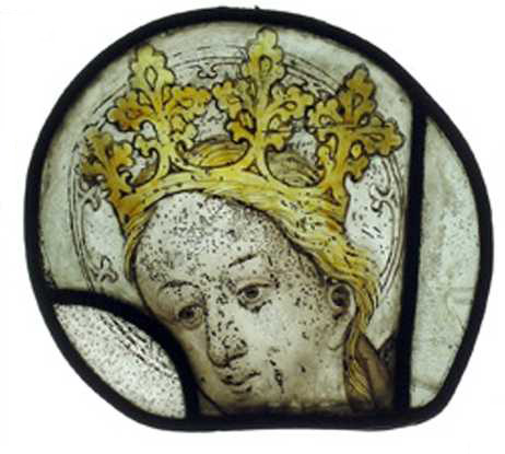 Head of the Virgin by Thomas Glazier of Oxford. © Liverpool Museum