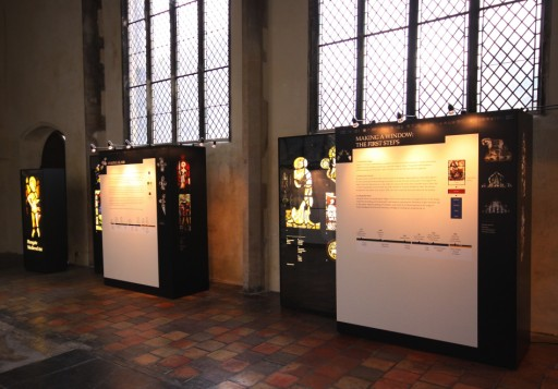 The stained glass exhibition. © Mike Dixon.