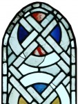 Fig. 1: Detail of Grisaille Panel, c.1200-1250, The Stained Glass Museum (Museum No. 1990/4). © The Stained Glass Museum.