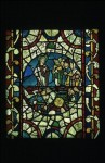 Moses dividing the red sea, c.1200-1250, Panel 4a, Window nII, Lincoln Cathedral