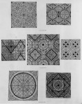 Fig. 4a. Types of Grisaille found in Salisbury Cathedral, c.1200-1250.