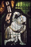 Fig. 3. Soldier detail, c.1310-40, panel 1c, window nII, All Saints' Church, North Street, York. © Jasmine Allen.