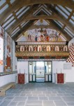 Fig. 1. Part of the recreated interior: The Rood screen. © St Fagans: National History Museum.