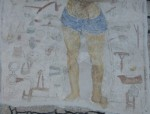 Fig. 2. Lower part of the wall painting of the Warning to Sabbath Breakers, St Just-in-Penwith. © YF Pictures.