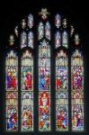 Fig. 4. St Andrew's Church, Farnham, East window. This is an example of Pugin designing in the Late style, a style that he found problematic at times, showing elaborate group compositions under canopies and illustrating events from the life of Christ. Made by Hardman, 1851. © Alastair Carew-Cox.