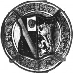 Fig. 4.Coat of arms with Lion's mask and a Gryphon.