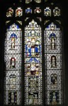 Fig. 1. The east window in the north aisle, St Mary's Martham. © Devlin Plummer Stained Glass.