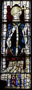 Canonised Archbishop, East Window, All Saints church, Bolton Percy.