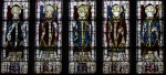 Fig. 4. Archbishops along the lower tier of main lights, East window, All Saints' church, Bolton Percy.