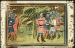 Fig. 2. Achior Freed by the Israelites from a Dutch manuscript of c. 1430, Koninklijke Bibliotheek, The Hague.