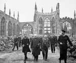 Fig. 1. Winston Churchill inspects the ruins of the cathedral, 28 September, 1941