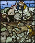 Fig. 1. Morris, Marshall, Faulkner & Co., The Miraculous Draught of Fishes, 1874, Llandaff Cathedral, designed by Ford Maddox Brown (image no. 3248).