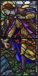 Fig. 2. Karl Parsons, The Good Samaritan, 1929, Church of St James, Pyle (detail of right-hand light)(image no. 1666).