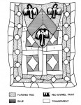 Fig . 4. Reconstruction drawing of the late fourteenth-century armorial panel excavated from Carmarthen Greyfriars.