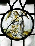 Fig. 9. Angel with shield decorated with acorns.