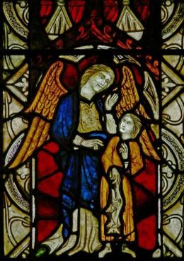 Fig. 11. The Archangel Raphael with Tobit, parish church of St Michael, Kingsland. © Painton Cowen.