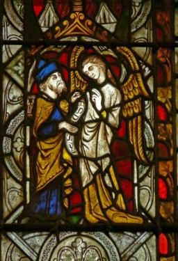 Fig. 12. The Archangel Uriel with Esdras, parish church of St Michael, Kingsland. © Painton Cowen
