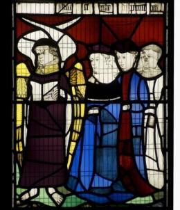 Fig. 8. Cherubim leads a procession, All Saints, North Street sV, 3b. © Gordon Plumb.