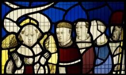 Fig. 9. Detail of Thrones, All Saints, North Street, sV, 3c. © Gordon Plumb.