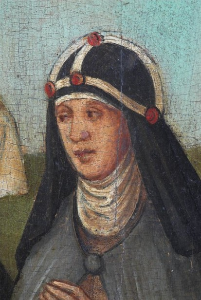 Fig. 1. A portrait of Katerina Lemmel wearing the crown of a Brigittine nun