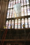 Fig. 2. The Studio conservation team in action. © Dean & Chapter of Canterbury cathedral.