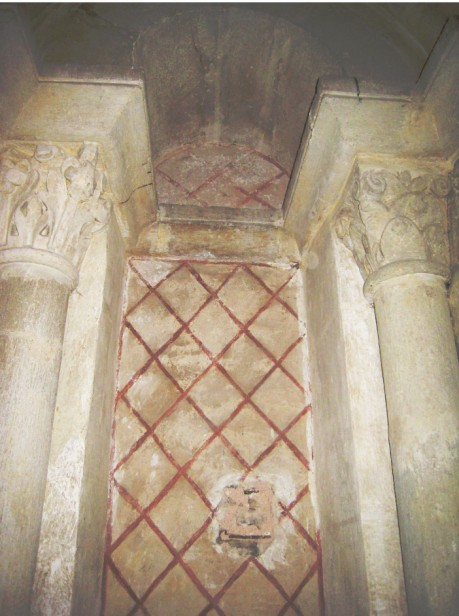 12th-century wall painting, Abbey of Cluny. Thanks to Eliane Vergnolle.
