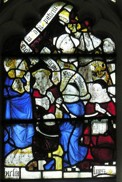 St Katherine with the philosophers, Clavering church. © www.essexchurches.info.