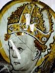 The head of St Blaise before restoration. © Barley Studios.