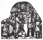The Kiss of Judas, Wiesbaden (Hesse) Museum, c.1175, from Grodecki, 1977, p. 160.