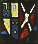 Shield of John of Gaunt, Duke of Lancaster impaling Neville. Tracery Light A5.