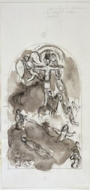 Marc Chagall study for east window 2, 1966–1978. © ADAGP, Paris and DACS, London/Centre Pompidou, Paris and Chagall Museum, Nice.