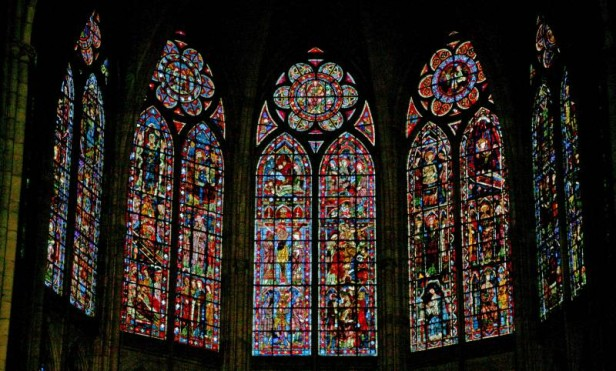Windows in north choir clerestory, Troyes Cathedral, c.1240-50.
