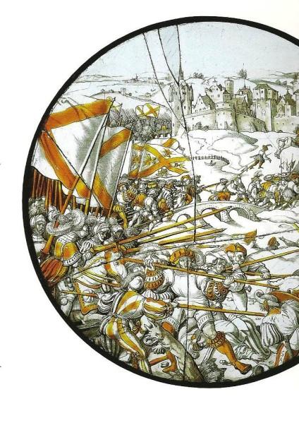 Detail from 'Emperor Maximilian's Hennegau War'. © Wartburg-Stiftung Eisenach.