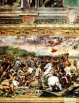 Detail of the Battle of the Milvian bridge, by Raphael/Giulio Romano.