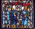 Cuthbert sowing corn, panel 16c, sVII, St Cuthbert window, York Minster. © Crown Copyright, NMR.
