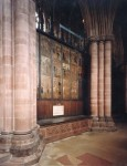 Paintings at Carlisle Cathedral depicting the Life of St Cuthbert. © Anna Eavis