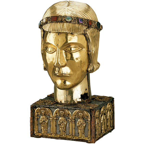 Head reliquary of St Eustace, Basle, Switzerland, around AD 1210. © the British Museum.