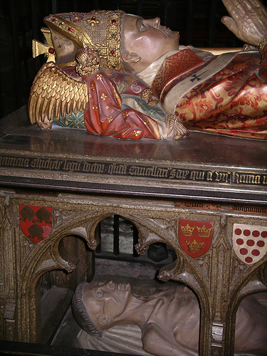Detail of Henry Chichele's cadaver tomb at Canterbury Cathedral. © Allan Barton.