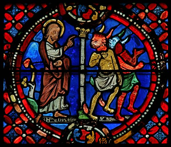 St Andrew chasing two demons. © Painton Cowen.