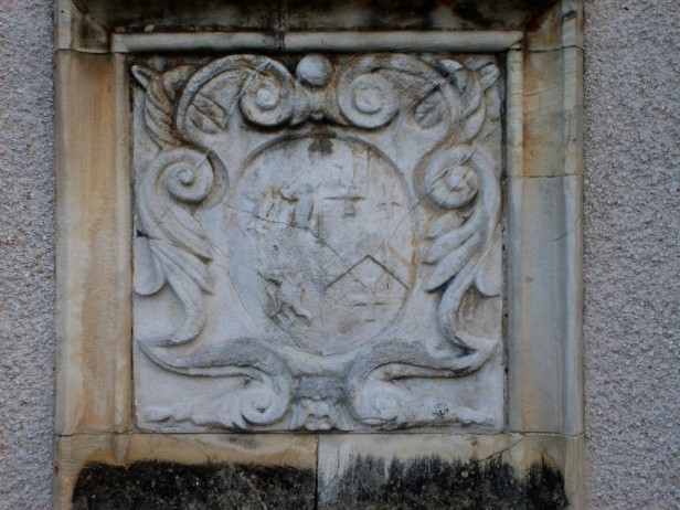 Arms of Barwick impaling Strickland, Toulston Lodge.