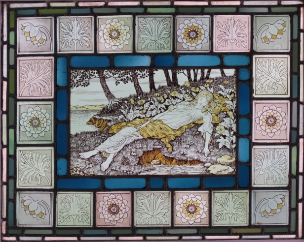 The panel by William Glasby.